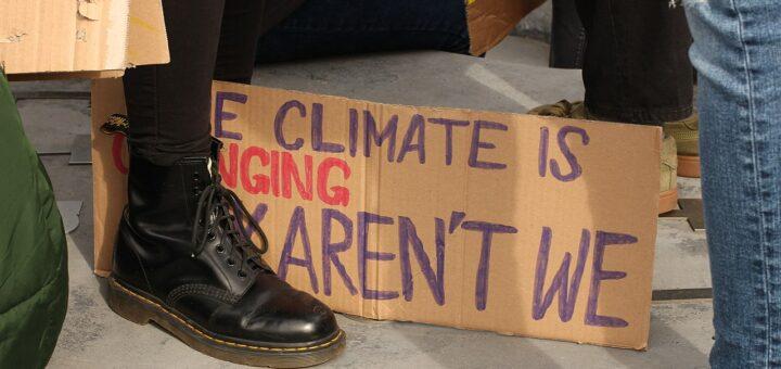 La grève scolaire pour le climat (FridaysForFuture) sur la Heldenplatz à Vienne (Autriche)