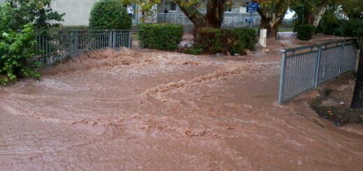 Inondations du 26 octobre 2012 sur le campus de l'USTV de La Garde.